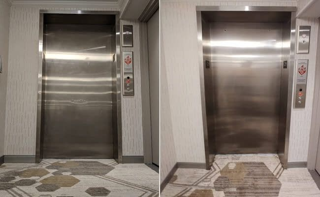 Stainless Steel Doors Refinished